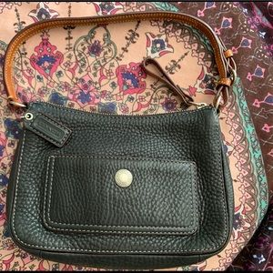 Authentic Coach muted Black pebbled purse.